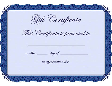 design your own certificate templates free design your own gift certificate template update234