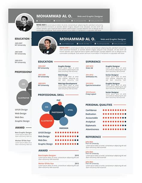 free colorful resume templates free resume template print ready two color versions on