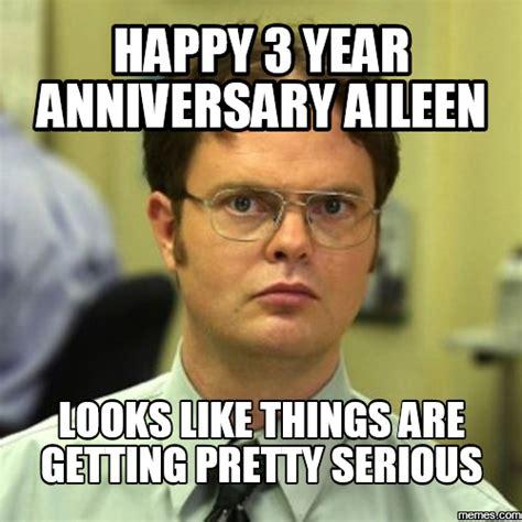 Funny Anniversary Memes - happy 3 year anniversary meme gallery