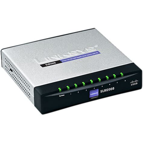 Linksys Switch 16 Port 10 100 Mbps Sd216t linksys 8 port 10 100 1000 gigabit smart switch with pd slm2008