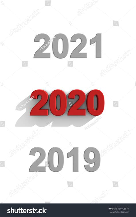 new year dates future 2020 new year date sequence past stock illustration
