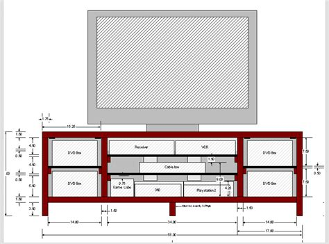 build tv stand plans diy diy  design  reach desk