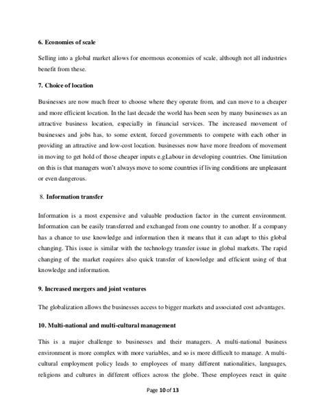 Globalisation Essay by Economic Globalization Essay Economic Globalization Essay Globalisation Essay Essay On