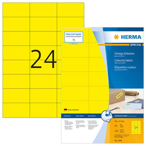 Word Vorlage Etiketten 70 X 37 Herma Etiketten 4406 70 X 37 Mm 100 Blatt Officeworld Ch