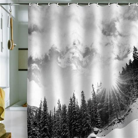 mountain shower curtain quot white mountain quot shower curtain tracy pinterest