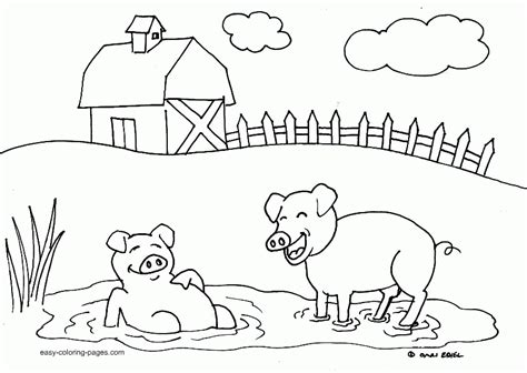 Free Farm Animal Coloring Pages Coloring Home Print Your Color L