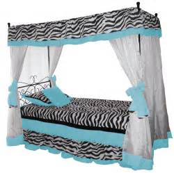 Zebra Canopy Bed Iron Canopy Bed Blue Zebra Bedding