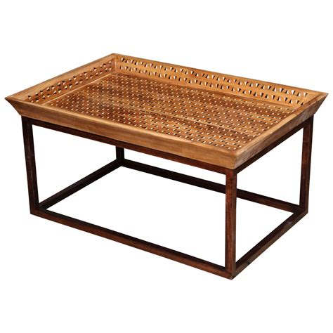 Coffee Tray Table Inlaid Tray Top Coffee Table For Sale At 1stdibs