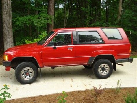 Toyota 4runner 1986 For Sale Sell Used 1986 Toyota 4runner Dlx 4wd Mint Condition