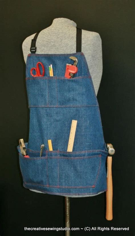 sewing apron straps this men s work apron can also be made for a women and has