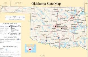 oklahoma state map a large detailed map of oklahoma