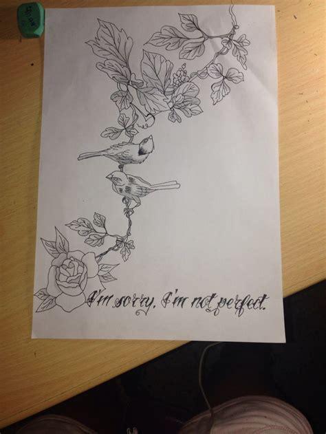 imagenes goticas de viros con frases dibujo tattoo de p 225 jaros en las ramas con rosa y frase