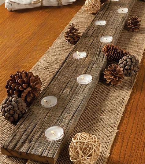 mobili rustici fai da te 20 idee per portacandele fai da te in legno riciclo