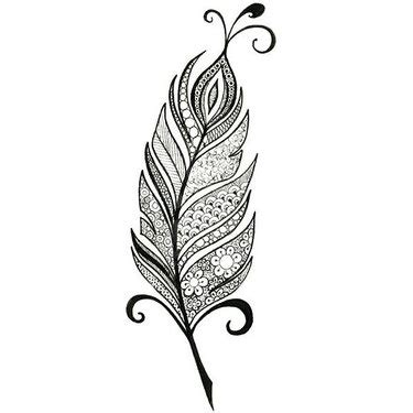 blue feather tattoo design