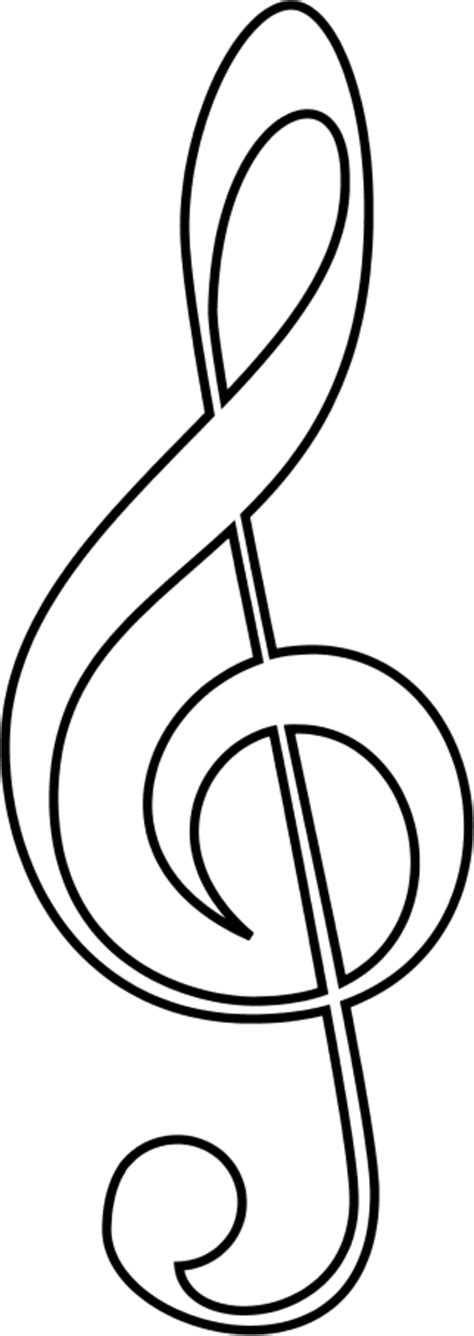 music note outline cliparts co