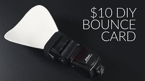 how to make a 10 bounce card for your flash or speed
