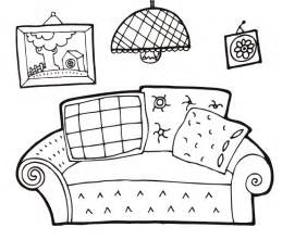 Living Room Coloring Pages sketch template