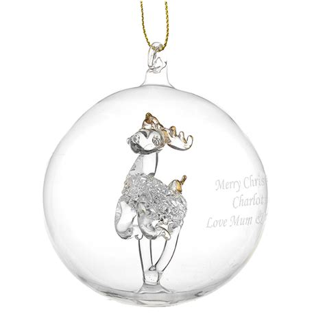 personalised christmas tree baubles and decorations just
