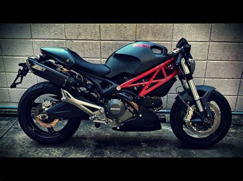 ducati 696 matte black matte grey 696 with zard exhaust and accents