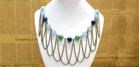 Easy Handmade Accessories - a chic bead and chain fringe necklace design in 3 easy
