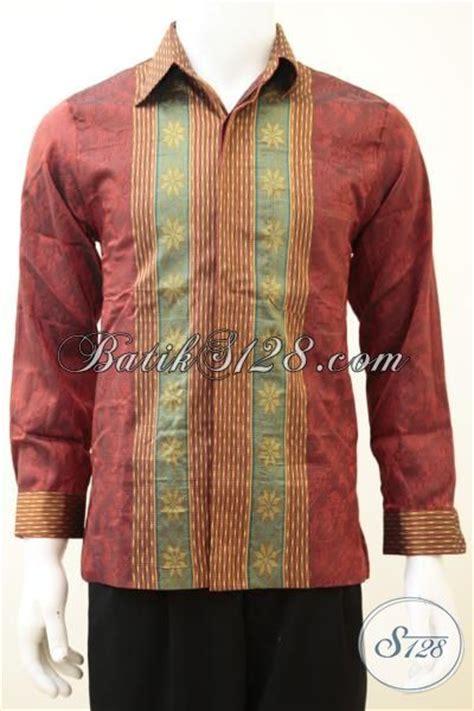desain baju batik tenun kemeja tenun mewah untuk pria dewasa desain motif terkini