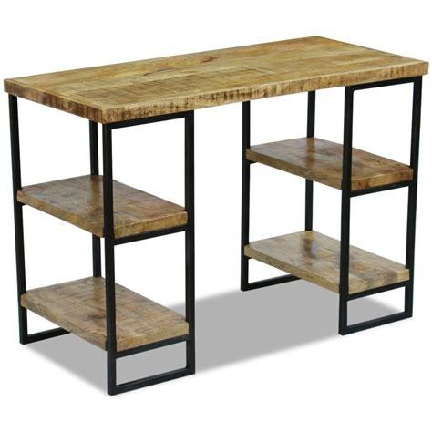 uffici in legno vidaxl scrivania da ufficio in legno di mango 110x55x76 cm