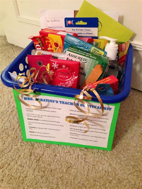 ideas from to student the survival kit i made for my cooperating