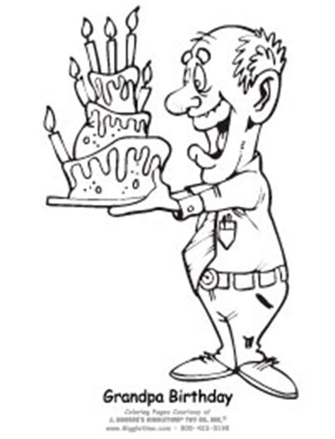 pics for gt happy birthday grandpa coloring page