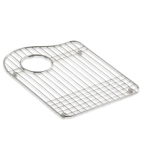 kohler hartland sink rack kohler k6016r right bowl stainless steel sink rack for the