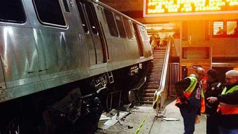 liveleakcom cta train derailment at chicago ohare watch the train climb the escalators at o hare straight