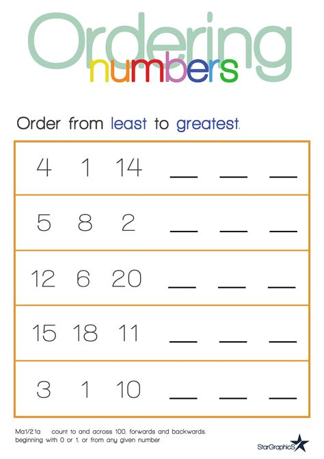 printable ordering numbers worksheets ordering fractions and decimals from least to greatest