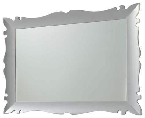 silver framed mirror bathroom versalles framed mirror 43 quot silver gloss contemporary