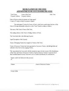 resignation of trustee form trustee resignation form