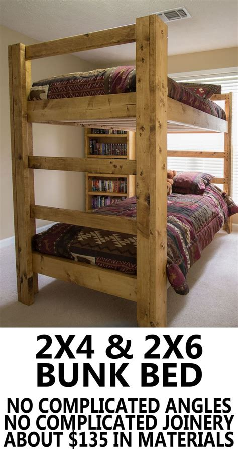 How To Make Your Own Bunk Bed Build Your Own Bunk Bed Easy And Strong Diy Wood Projects Pinterest Bunk