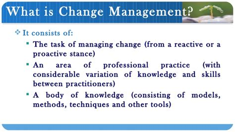 Mba Tools Techniques by Change Management Ppt Bec Doms Bagalkot Mba