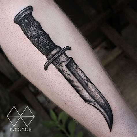 tattoo pictures of knives bowie knife tattoo by monkeybob tattoo at the59tattoo in