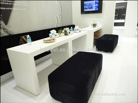 white acrylic nail salon furniture modern nail technician