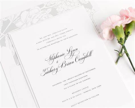 Wedding Invitations In by Delicate Wedding Invitations In Silver Wedding Invitations