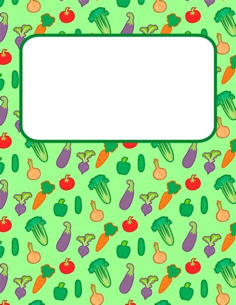 printable binder covers pdf free printable vegetable binder cover template download