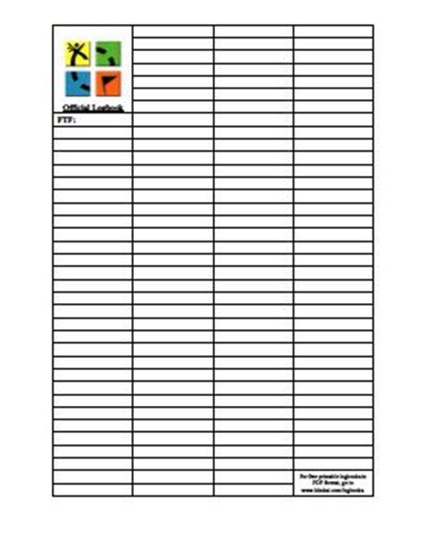 Printable Log Book For Geocaching | printable geocaching log book geocaching pinterest