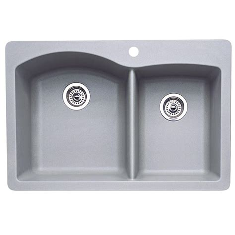 blanco composite kitchen sinks blanco dual mount composite 33 in 1
