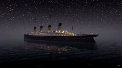 pictures of the titanic sinking a recreation of the titanic sinking in is a
