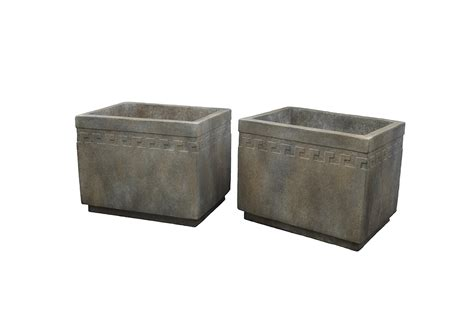 Rectangular Cement Planters by Rectangular Cement Planter With Key Design Inner