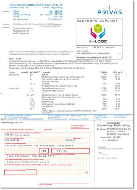 Muster Rechnung Webdesign privas privat 228 rztliche abrechnungsstelle f 252 r 196 rzte und