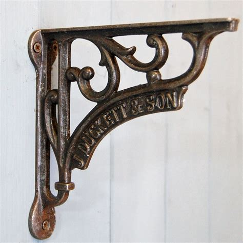Vintage Style Shelf Brackets by Bowley Jackson Traditional Ornate Iron Hanging Basket