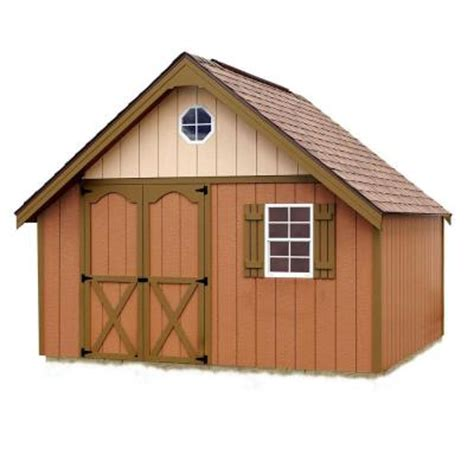 Home Depot Wooden Sheds by Best Barns Riviera 12 Ft X 12 Ft Wood Storage Shed Kit