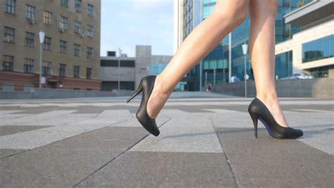 walking with high heels high heels legs stock footage