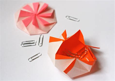 How To Make A Paper Octagon - origami octagonal pouch how about orange