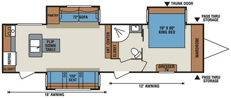 rv cer floor plans spree 174 339rk lightweight travel trailer k z recreational vehicles