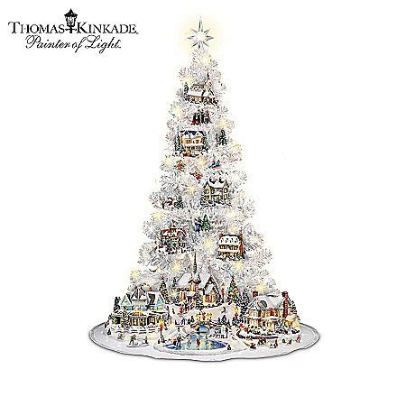 thomas kinkade illuminated tree skirt 8 best kinkade tabletop trees images on deco and decor
